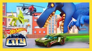 There's something big, blue, and full of teeth in Hot Wheels City c...