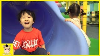 Indoor Playground for Kids and Family Fun Slide play at Tayo Kids Cafe | MariAndKids Toys