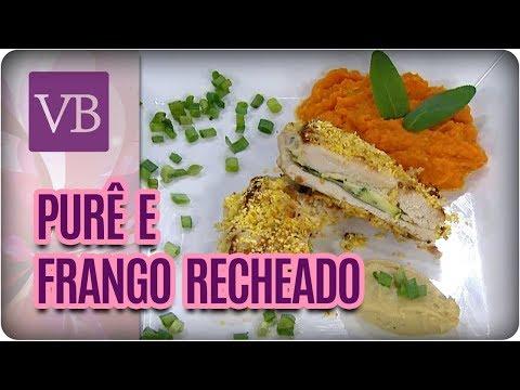 Frango Recheado com Queijo de Castanha de Caju e Purê de Cenoura - Você Bonita (09/08/17)