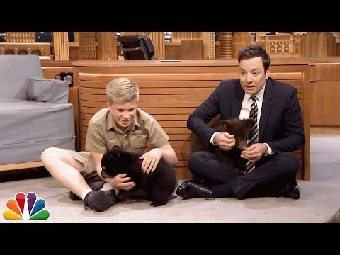 Thumbnail: Robert Irwin and Jimmy Play with Baby Black Bears