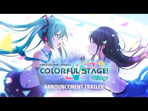 HATSUNE MIKU: COLORFUL STAGE! Announcement Trailer