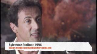 Sylvester Stallone talks movies and EATING!