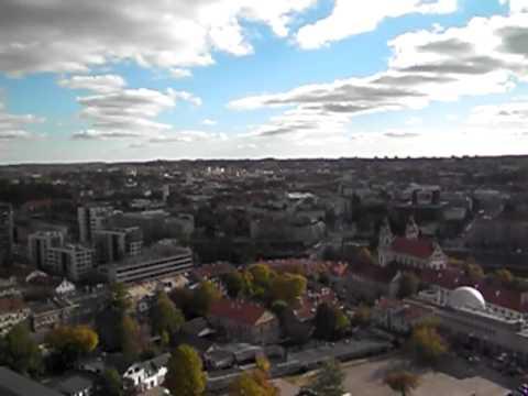 リトアニア首都ヴィリニュス市役所から遠望 Lithuania capital Vilnius city hall