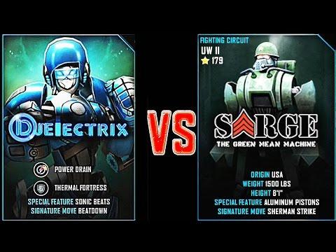 REAL STEEL WRB DJ ELECTRIX VS Sarge New Robots UPDATE (Живая сталь)