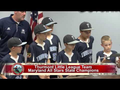 Frederick at Its Best: Thurmont Little League
