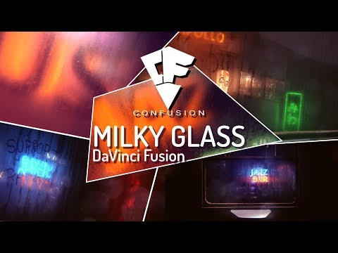 DaVinci Resolve & Fusion | Create amazing text behind glass effect ( Rival After Effects )