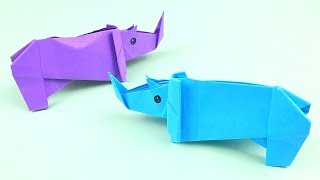How to Make Easy Origami Rhino - Origami Tutorial