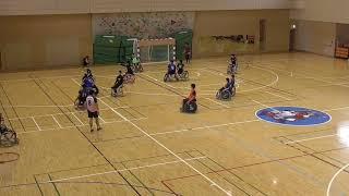 藍野大学TOPS-アベンジャーズ VS 大阪体育大学APES 前半 車いすハンドボール近畿リーグ第5節