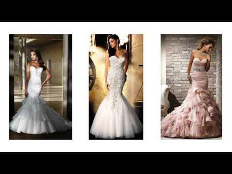 7be1669227 Vestidos de novia con escote en espalda y corte sirena.