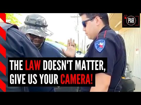 Cops illegally took his camera ... but they weren't ready for what happened next!