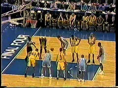 04/05/1993 NCAA National Championship:  E1 North Carolina Tar Heels vs. W1 Michigan Wolverines