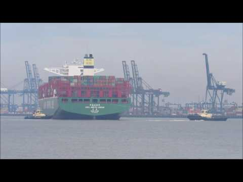 CSCL Arctic Ocean arrival to the Port of Felixstowe 22th May