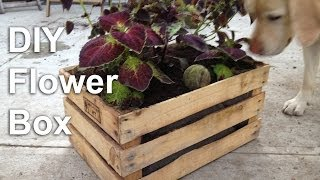 Diy Flower Box Garden Planter - Gardenfork.tv