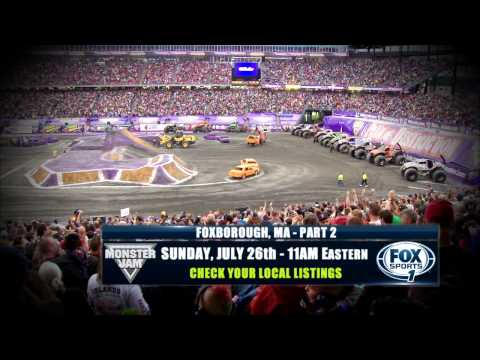 Monster Jam Freestyle in Foxborough, MA at Gillette Stadium on FOX Sports 1 - July 26, 2015