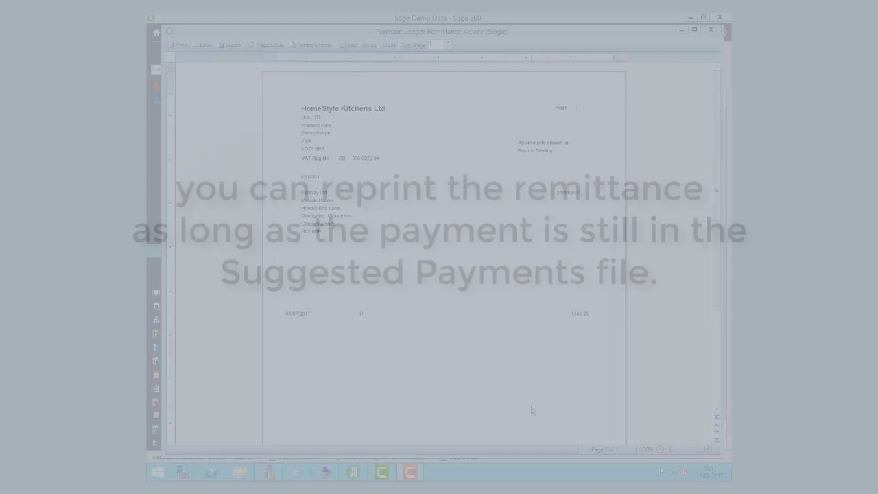 Sage Insights - Reprinting Remittance Advices