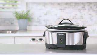 Crock Pot 6 Quart Slow Cooker works with Alexa | Programmable Crock Pot | Stainless Steel