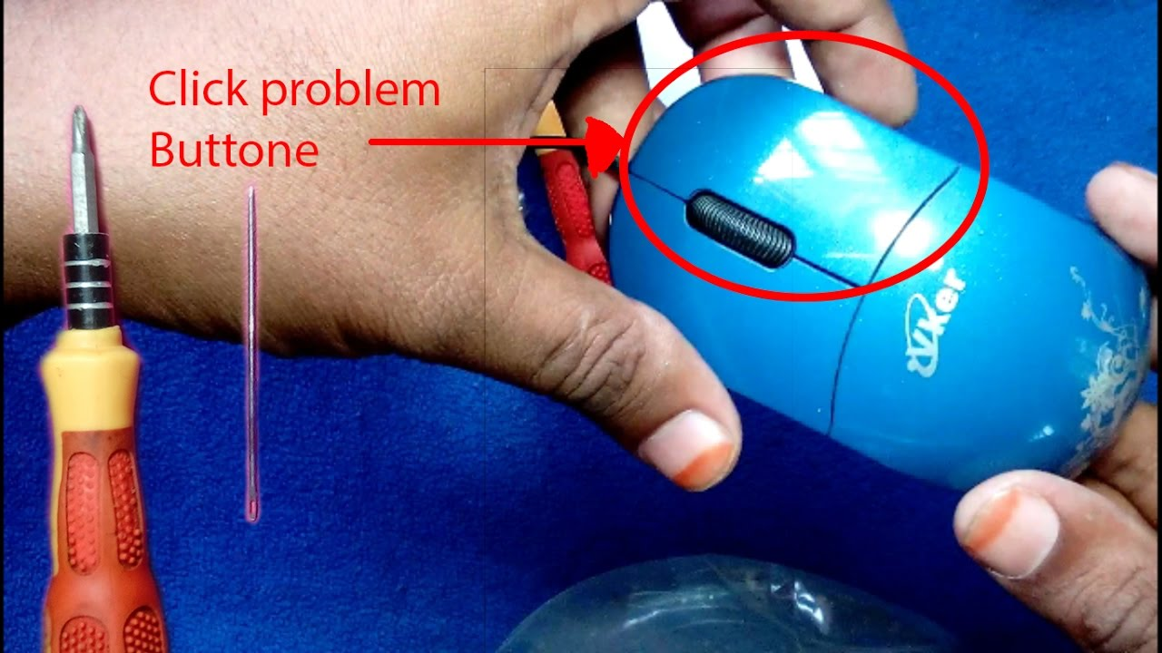 how to repair mouse left click or right click button, Everyone will
