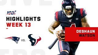 Deshaun Watson Puts on a Show vs. Patriots! | NFL 2019 Highlights