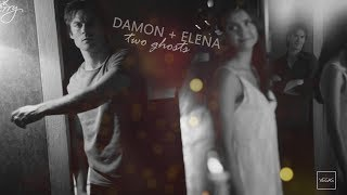 two ghosts standing in the place we used to be. (damon&elena)