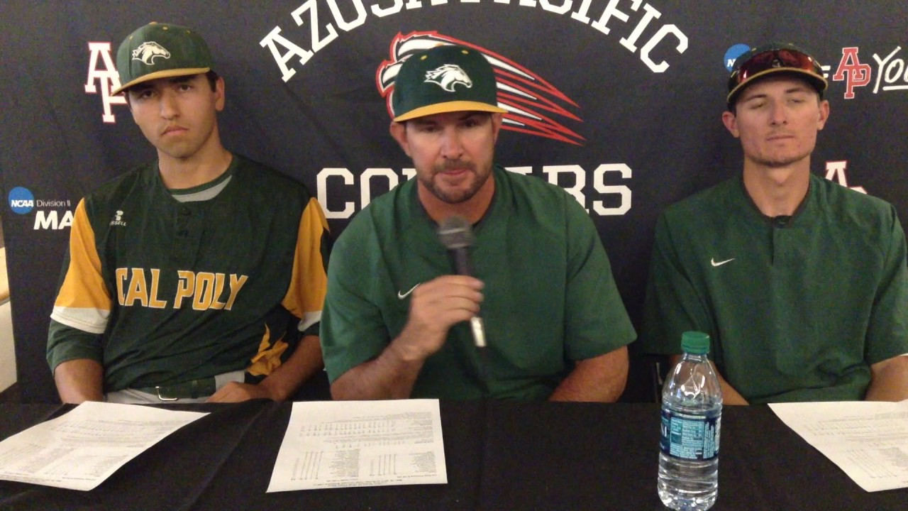 NCAA Division II Baseball West Regional (Game 1 Press Conference)  Cal Poly  Pomona 080862717c45