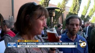 Stone Brewing uses wastewater to brew beer