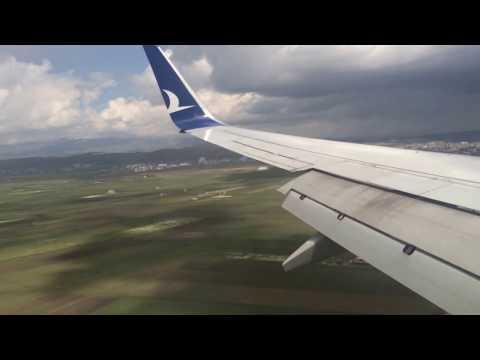 Kars Havaalanı Piste İniş (Landing Kars Airport, Turkey)