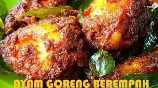 Bahan-Bahan: Ayam,Serbuk Kari, Serbuk Cili, Tepung Jagung, Jintan, Ketumbar, Serai dan Daun Kari.