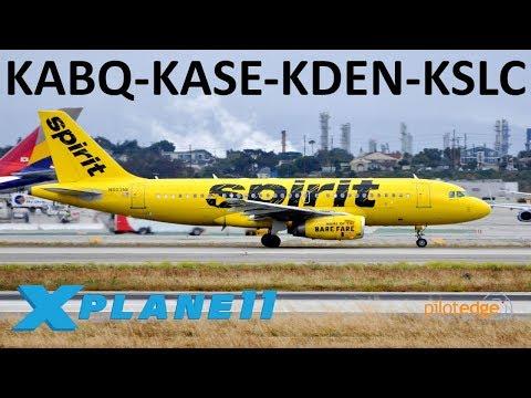 X-Plane 11   PilotEdge Fun!!   Crj200 A319 B739   PilotEdge   Albuquerque, Aspen, Denver & Salt Lake