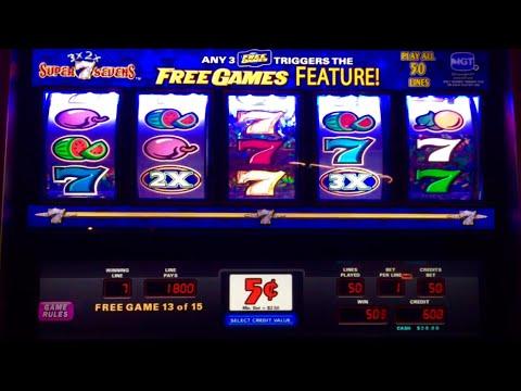 3x 2x Super Sevens slot- 3 awesome bonuses!