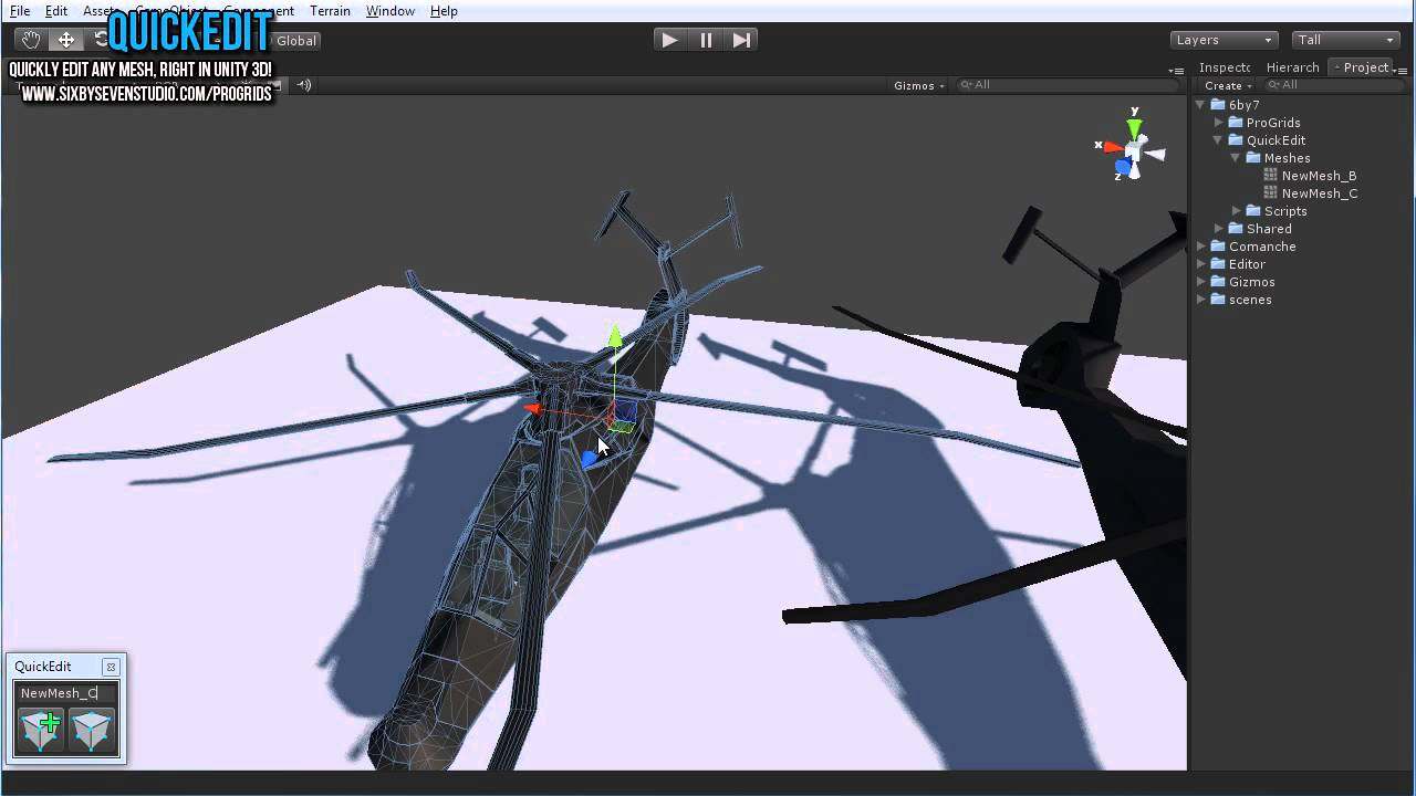 QuickEdit: Edit any mesh, right from Unity 3D!