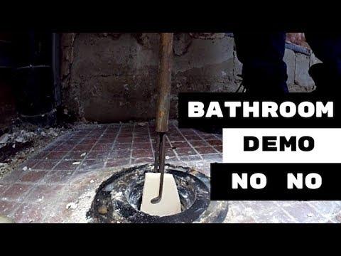 FIRST RULE IN BATHROOM RENOVATION