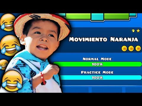 MOVIMIENTO NARANJA En GEOMETRY DASH WTF!!