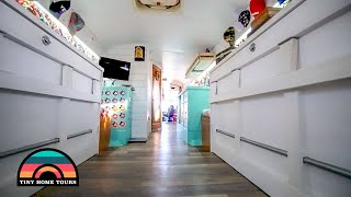 3 Murphy Bed & Roof Deck Skoolie Build ~ Fully Detailed Tiny Home Tour