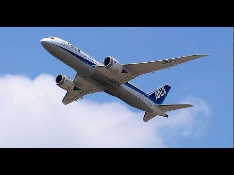 全日空 、日本航空 ドリームライナー B787 成田空港離陸 ANA , Japan Airlines Dreamliner B787 Narita Airport Take off