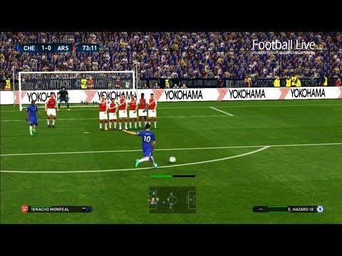 Chelsea FC vs Arsenal | E.HAZARD free kick Goal & Full Match | PES 2017 Gameplay PC