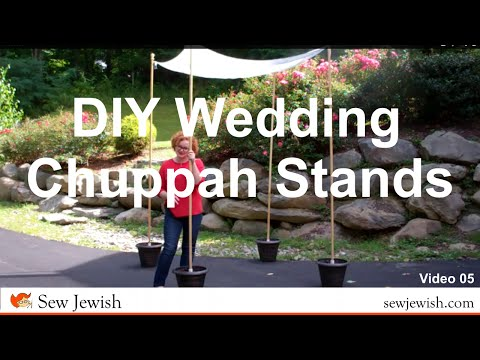 DIY Wedding Chuppah Stands - Sew Jewish 05