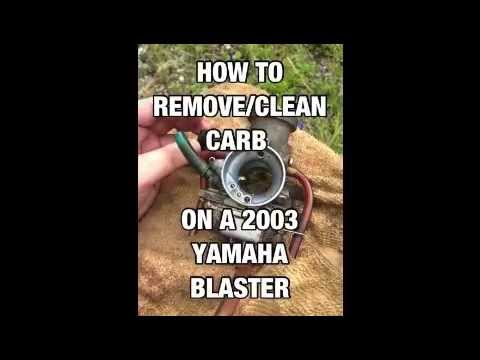 how to remove/clean Yamaha Blaster Carburetor