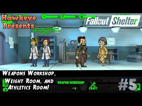 Fallout Shelter #5 - Weapons Workshop, Weight Room, And Athletics Room!