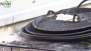 Elektrische kookplaat vat vuur in de Lavendelstraat.