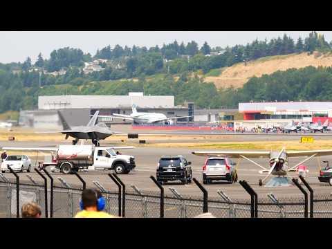 U.S. Air Force Lockheed Martin F-22 Raptor at Boeing Field Sea Fair Weekend