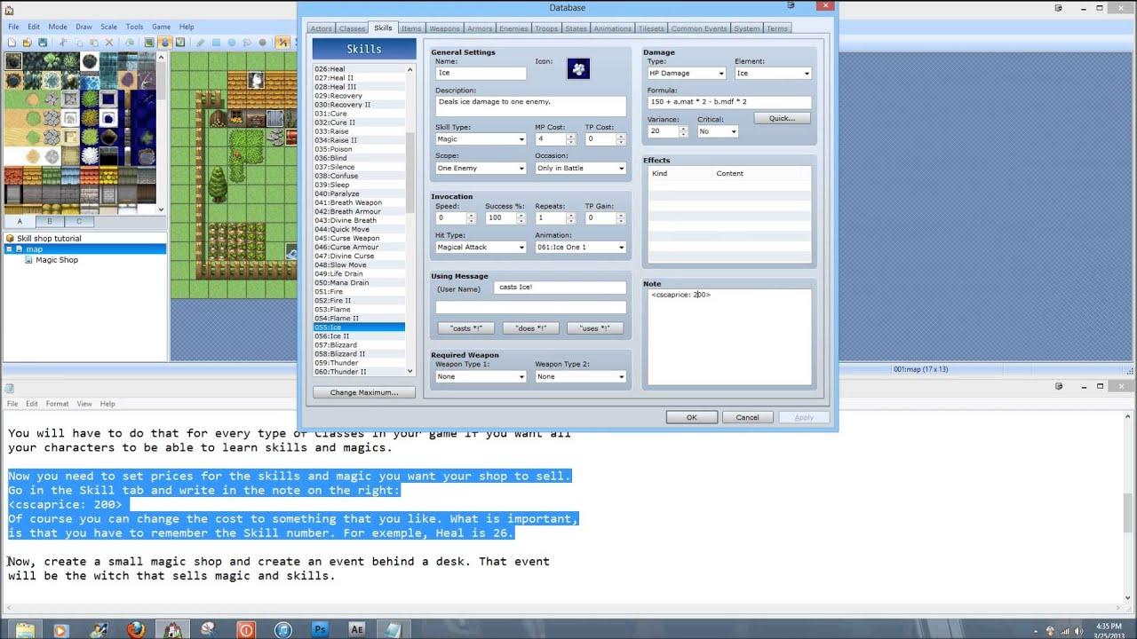 RPG Maker VX ACE Skill Shop Tutorial
