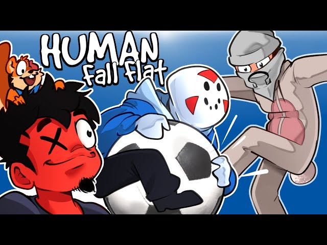 Human Fall Flat - LOST CELL PHONE & EPIC SOCCER MATCH! (Custom Map)