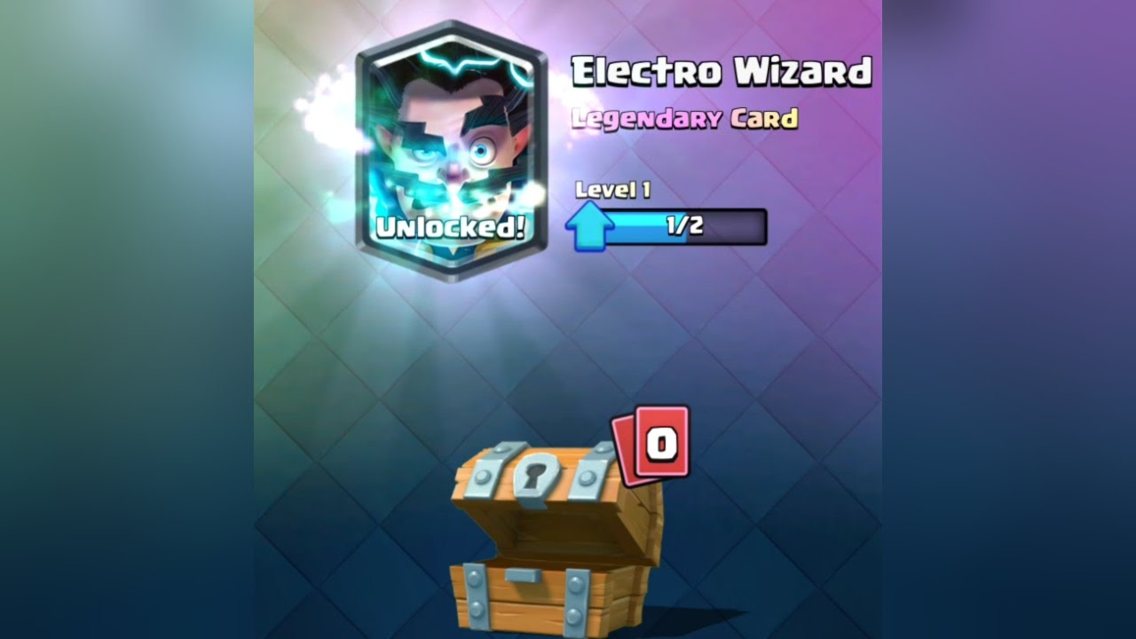 electro wizard in a free chest clash royale electro wizard