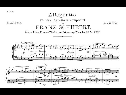 Schubert - Allegretto in C minor, D.915 - with score