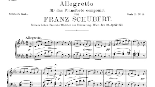 Schubert - Allegretto in C minor, D.915 - with score