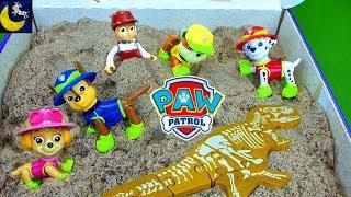 Paw Patrol Toys Rescue Video Racers Game Kinetic Sand Digging for Dinosaur Bones Mayor Humdinger