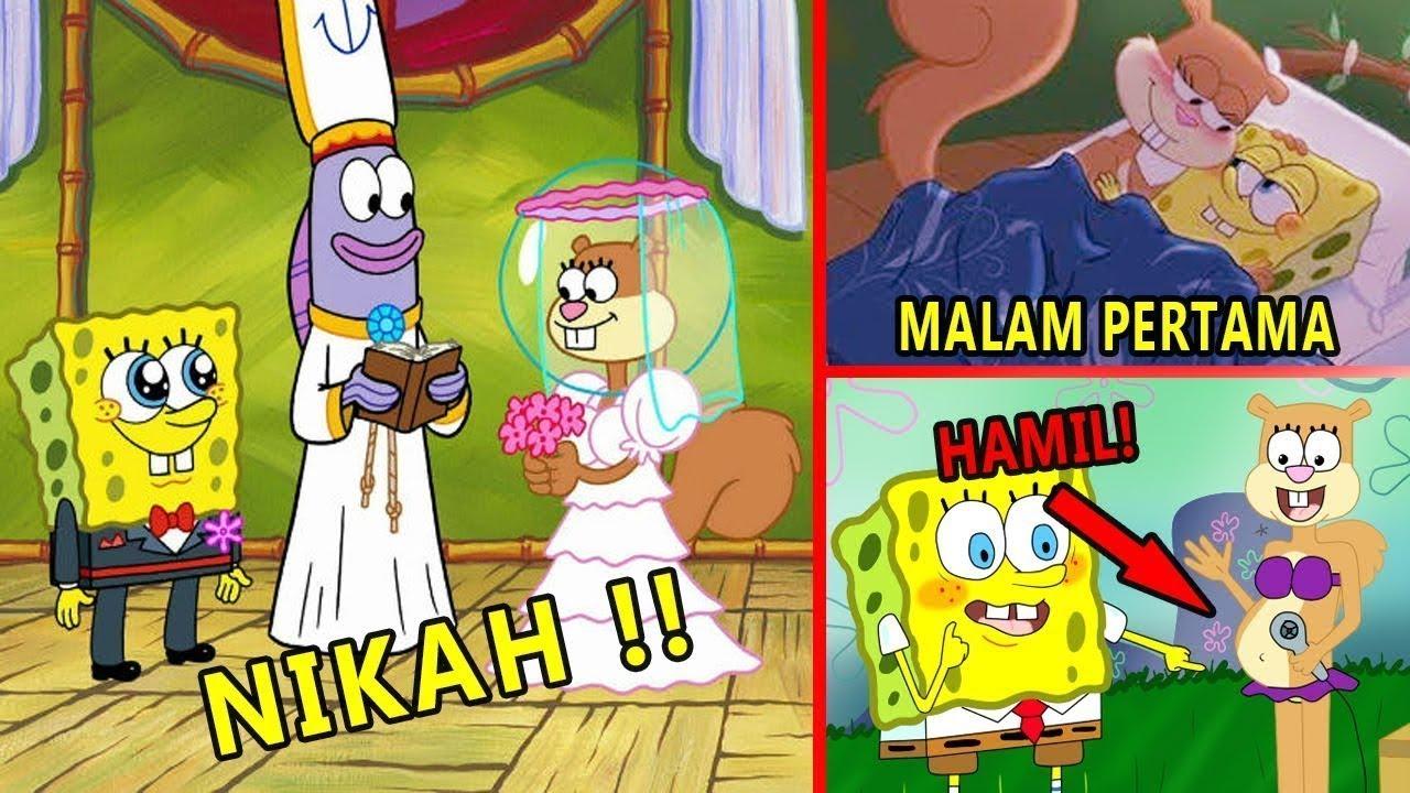 Spongebob & Sandy MENIKAH Bongkar 10 Rahasia Kartun SPONGEBOB Yang Tersembunyi