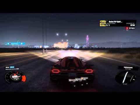 Koeniegsegg Agera travel to Vegas by night - The Crew [Logitech G27]