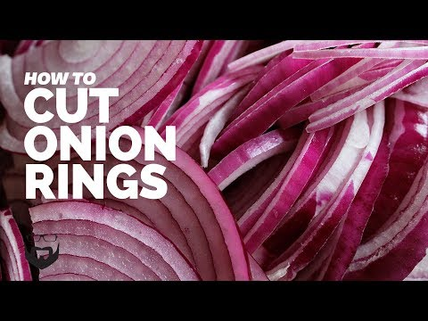 How to Cut Onion Rings