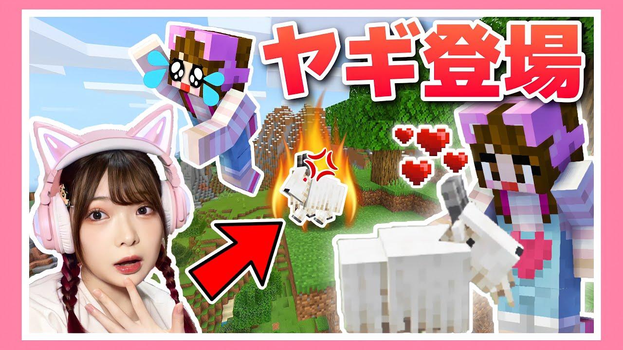 【アップデート】可愛いけど狂暴⁉新モブヤギを仲間にしたい!!【マイクラ】【マインクラフト】【Minecraft】【女性ゲーム実況者】【TAMAchan】
